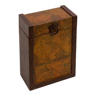 "15""h Wooden Wine Box ACC001606"