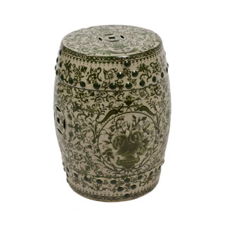 Green Porcelain Stool CHR009726