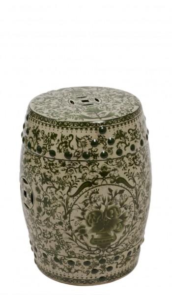 Stool/Planter Green Porcelain CHR009726