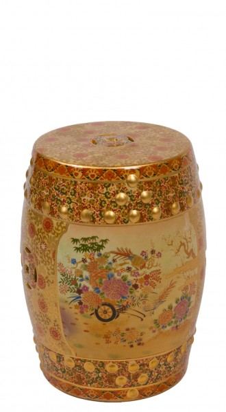 Gold Porcelain Stool CHR009728