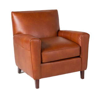 Chestnut Leather Club Chair CHR012556