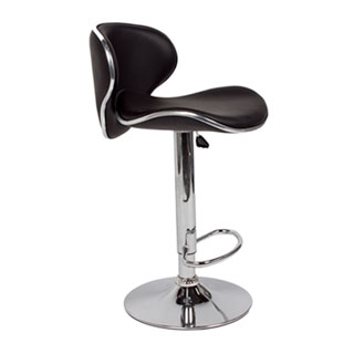 Black Leather Bar Stool CHR012734