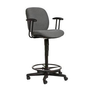 Grey Fabric Drafting Chair CHR012743