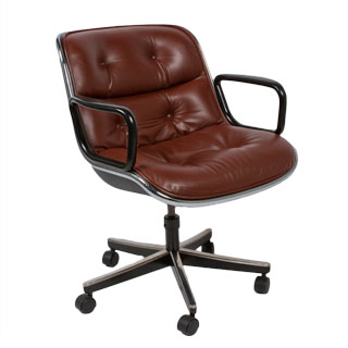 Brown Leather Mid-Back Pollack Chair CHR012844