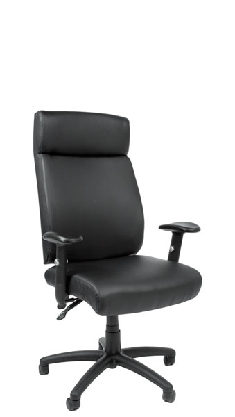 Black Leather Executive Hi-Back Swivel Chair CHR012845