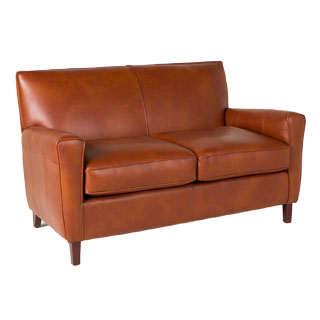 "58""w x 34""d Chestnut Leather Loveseat LVS012555"