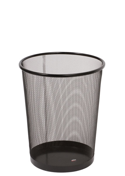 "14.25""h Black Mesh Waste Basket MIS012118"