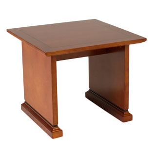 "24""w x 24""d Medium Cherry Veneer End Table TBL010034"