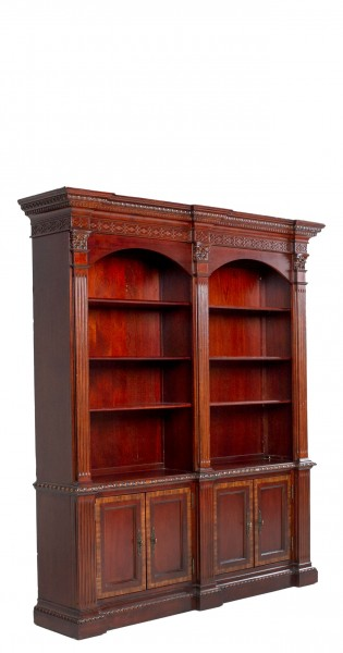 "69""w x 84""h Medium Cherry English Manor Bookcase BKC009952"