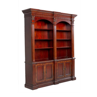 69 w x 84 h medium cherry english manor bookcase bkc009952 for W furniture rental brussels