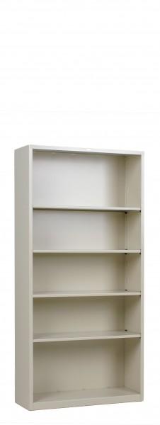 "34.5""w x 71""h Putty Metal Bookcase BKC012874"