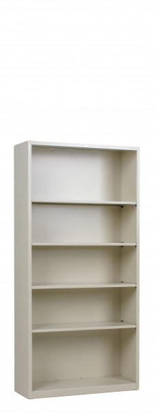 "34.5""w x 81""h Putty Metal Bookcase BKC012873"