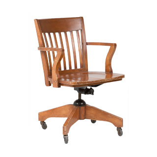Medium Oak Mid-Back Office Chair CHR005668