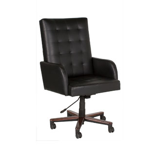 Black Vinyl Executive Hi-Back Swivel Chair CHR007254
