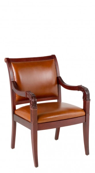 Tan Leather Arm Chair CHR009276