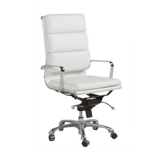 White Leather Executive Hi-Back Chair CHR011803
