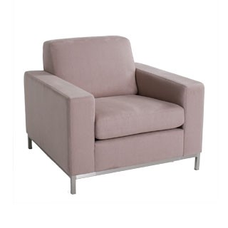 Lavender Grey Fabric Club Chair CHR012826
