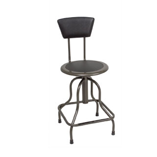 Grey Metal Industrial Swivel Stool CHR012867