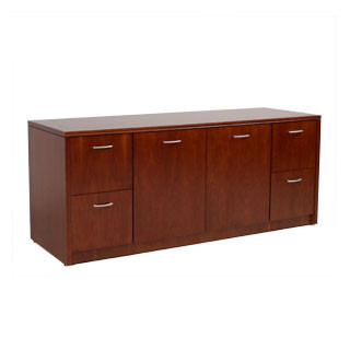 "72""w x 24""d Cherry Contemporary Credenza CRD012453"