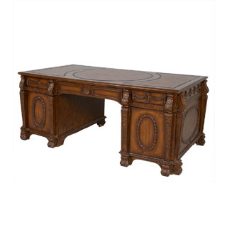 "72""w x 40""d Traditional Walnut Partner's Desk DSK006686"
