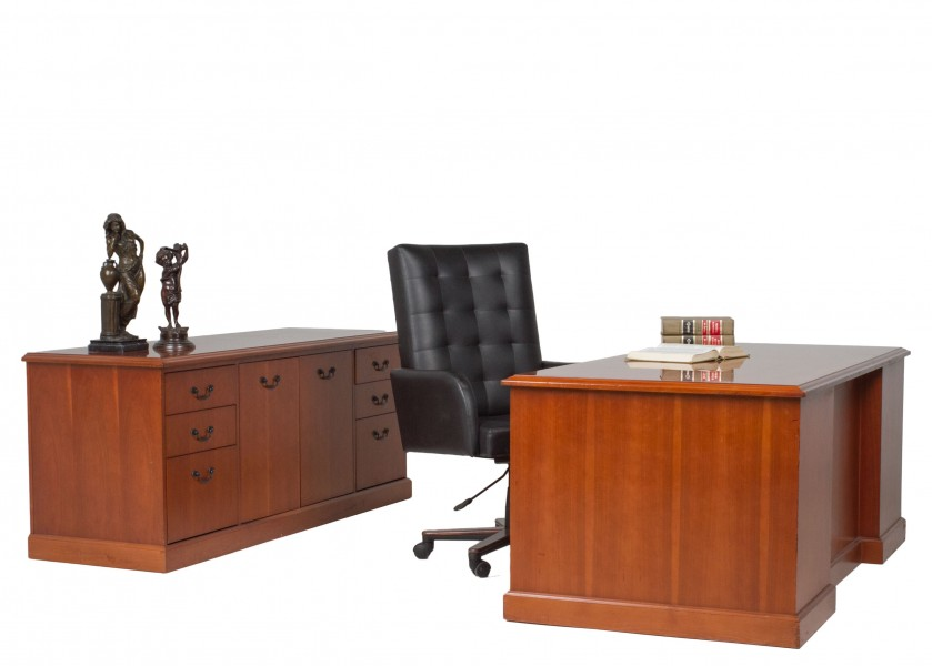 "72""w x 36""d Golden Cherry Desk DSK009264"