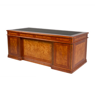"78""w x 36""d Honey Cherry Executive Desk DSK009562"