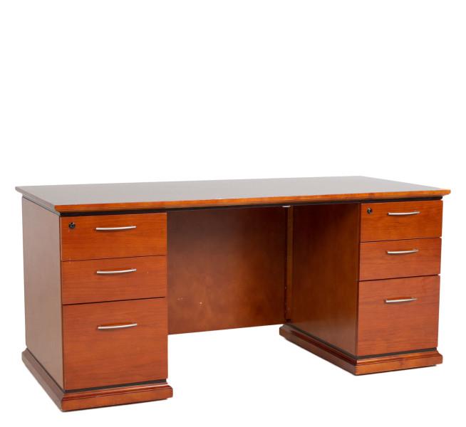 "66""w x 30""d Medium Cherry Contemporary Desk DSK010731"