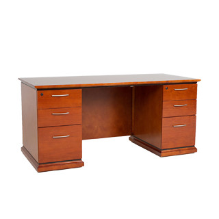 "66""w x 30""d Medium Cherry Contemporary Desk DSK010731"