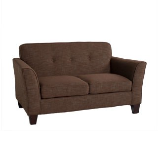 "62""w x 35""d Dark Brown Fabric Loveseat LVS012854"