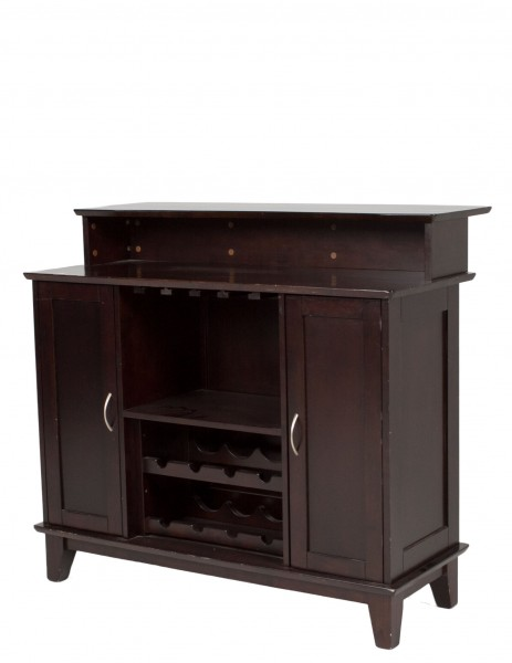 "47""w x 25""d Dark Cappuccino Contemporary Bar MIS010191"