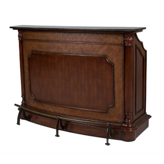 "62""w x 20""d Traditional Walnut Bar MIS012404"