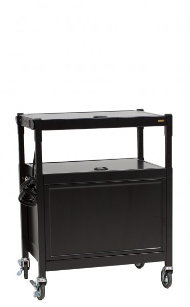 "27""w x 18""d Black Metal Media Cart MIS012866"