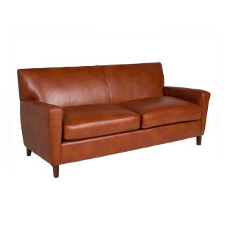 "78""w x 34""d Chestnut Leather Sofa SOF012554"