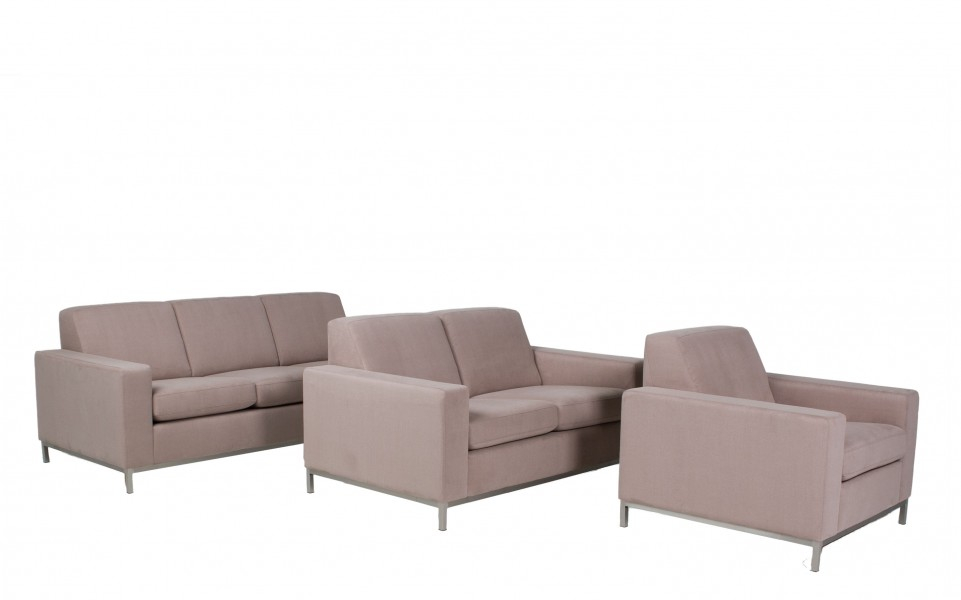 "57""w x 35""d Lavender Grey Fabric Loveseat LVS012825"
