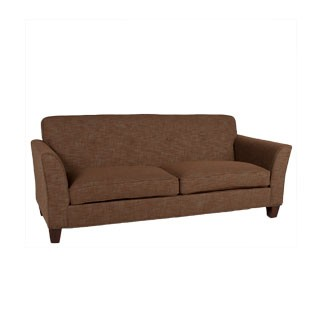 "87""w x 35""d Dark Brown Fabric Sofa SOF012853"