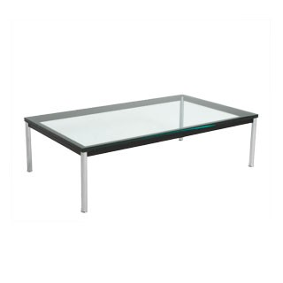 "55""w x 31""d Glass Corbusier Coffee Table TBL007293"