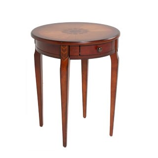 "20""dia Medium Cherry Round Side Table TBL012485"