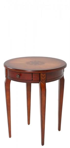 "20""dia Medium Cherry Round Side Table TBL012485"