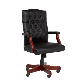 Black Vinyl Executive Swivel Chair TRD009038