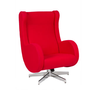 Red Felt Modern Lounge Chair CHR010220