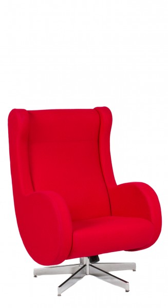 Red Felt Modern Lounge Chair CHR010220