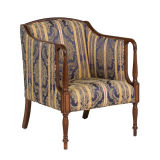 Blue Damask Sheraton Club Chair CHR006069
