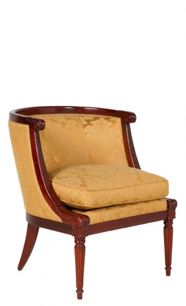 Gold Damask Lounge Chair CHR007729