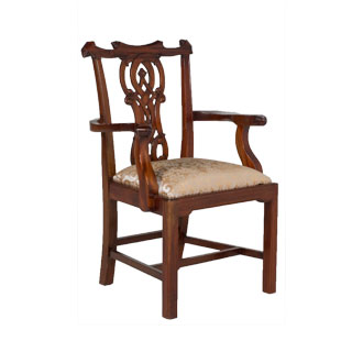Cherry Chippendale Armchair CHR009306