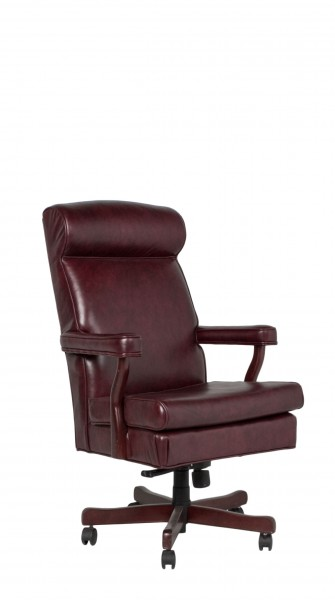 Oxblood Vinyl Judge's Hi-Back Swivel Chair CHR011271