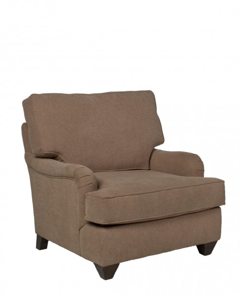 Taupe Fabric Pillow Back Club Chair CHR011657