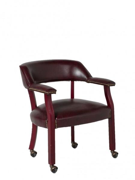 Oxblood Vinyl Captain's Guest Chair CHR011761