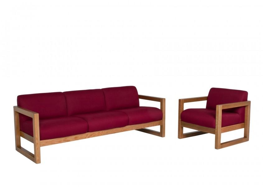 Burgundy Fabric Club Chair CHR011783