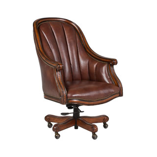 Brown Leather Executive Hi-Back Swivel Chair CHR012012