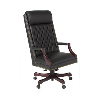 Black Leather Executive Hi-Back Swivel Chair CHR012505